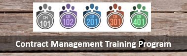 Contract Management Training Program logo and link to page.