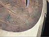 Embossed face of the Sundial