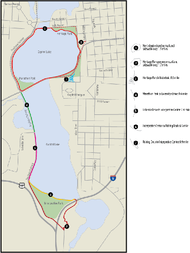 Capitol Lake Walking Trails graphic