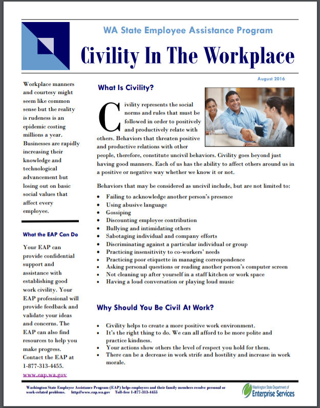 Civility in the Workplace tip sheet thumbnail image