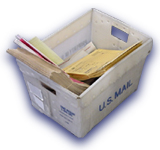 picture of tub of mail